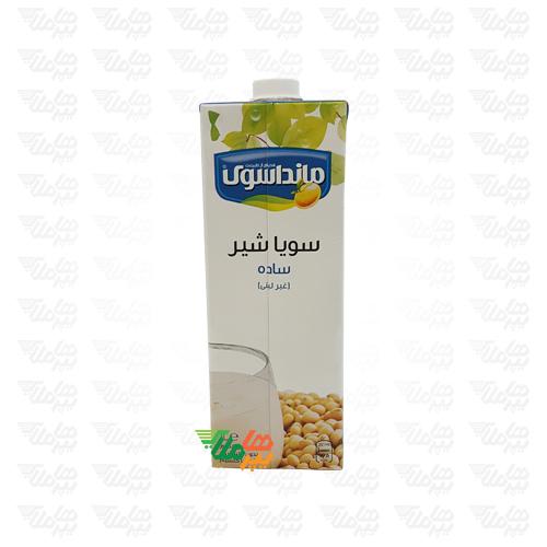شیر سویا ساده 1 لیتری مانداسوی
