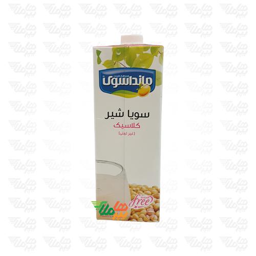 شیر سویا غنی شده کلاسیک 1 لیتری مانداسوی